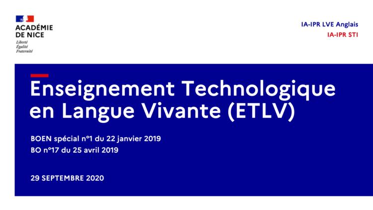 Page garde diapo ETLV STI2D