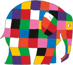 Elmer the elephant, by David McKee