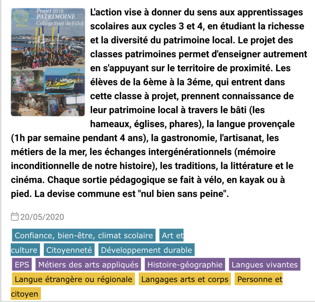 Classes Patrimoine