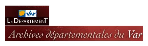 logo des archives départementales du Var. En un clic, retrouvez les ressources proposées aux enseignants