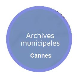 Logo des archives municipales de Cannes. Un clic pour accéder à la page dédiée aux enseignants