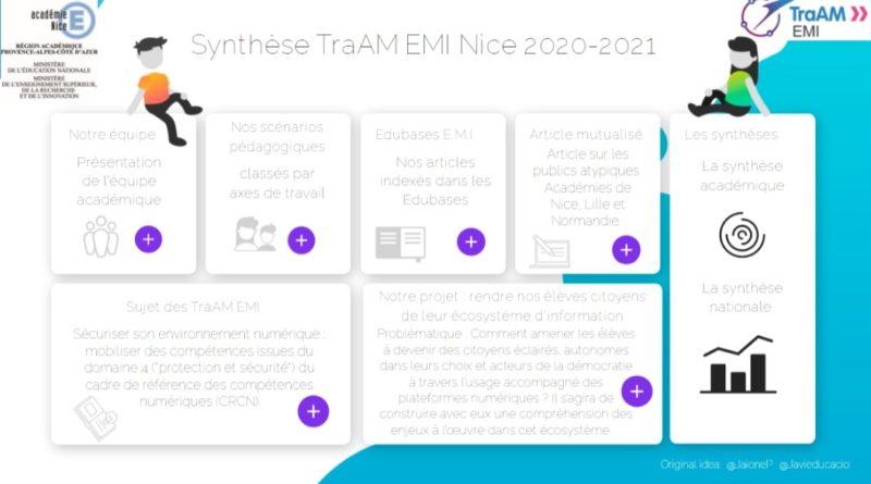 Synthèse académique des TraAM EMI 2020-2021