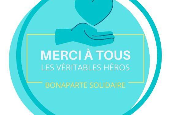 Bonaparte solidaire des héros du quotidien
