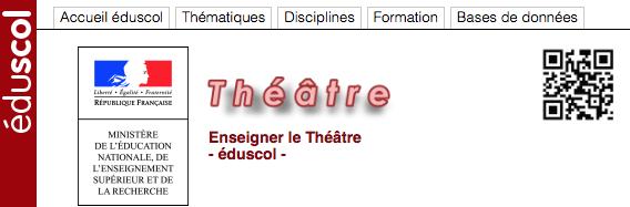 Portail Eduscol Théâtre