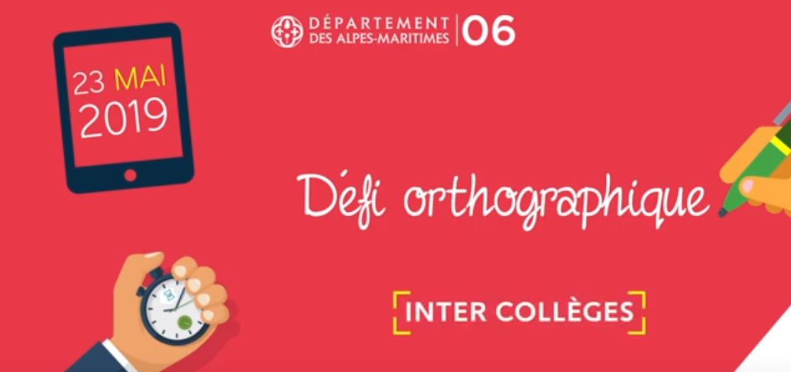 DEFI ORTHOGRAPHIQUE INTER COLLEGES
