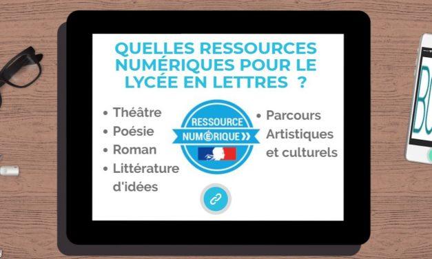 Quelles ressources numériques pour le lycée ?