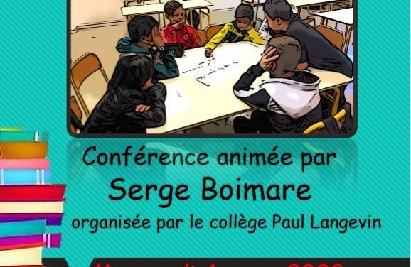 Conférence de Serge Boimare mercredi 4 mars