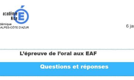 ORAL EAF : FAQ et maquettes de descriptif