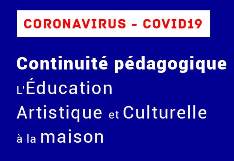 Continuité pédagogique : l'éducation artistique et culturelle s'invite à la maison