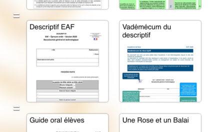 Les épreuves orales des EAF