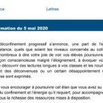 Lettre d'information Lettres mai 2020