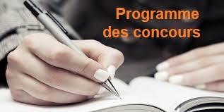 LES PROGRAMMES DES CONCOURS D'ENSEIGNANTS DU SECOND DEGRÉ DE LA SESSION 2021