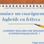 Organiser un enseignement hybride en lettres