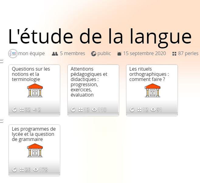 L'ETUDE DE LA LANGUE