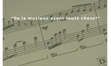 """Fomation BTS  : """"De la musique avant toute chose ?""""."""
