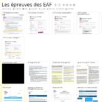 Les épreuves des EAF