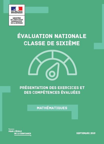 Evaluation Nationale De Debut De 6eme Presentation Des Exercices
