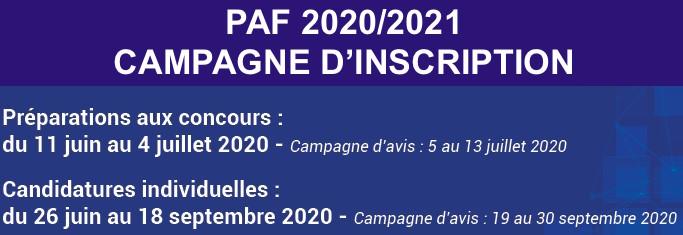 RAPPEL : inscriptions au PAF 2020 2021 jusqu'au 18 septembre