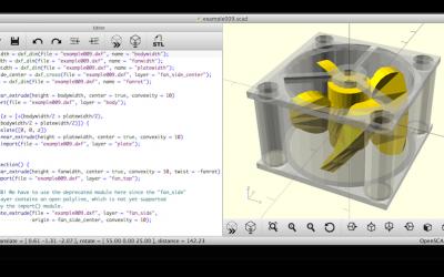 OpenSCAD, un logiciel permettant de créer des modèles de CAO 3D solides