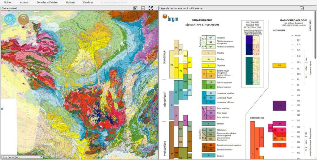 Etudier la carte géologique de la France (1M) et sa légende sur Tectoglob3D - Sciences de la Vie ...